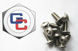 Stainless Button Head Socket  Flanged M6 x 10 (Qty 10)