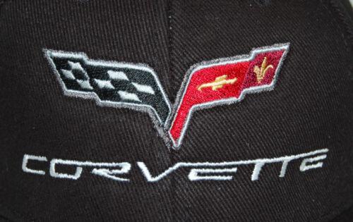 USA SHIPPED IN A BOX 2005-2013 Chevrolet Corvette C6 Black Hat Cap