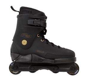 Razors Cult Street Gold Aggressive Skates - Black / Gold
