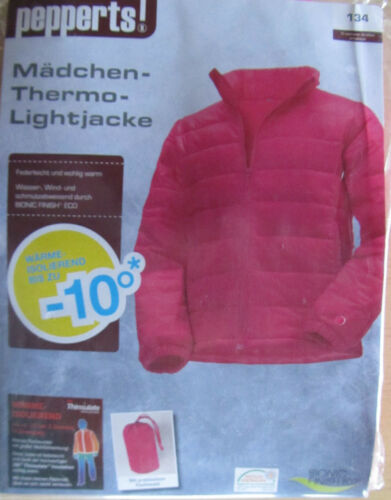 Pepperts NOUVEAU Taille Filles-Thermo-lightjacke 134 rose Neuf dans sa boîte