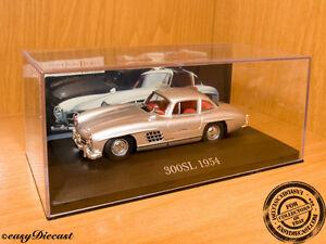 Mercedes-300SL-300-SL-Gullwing-Plata-1954-1-43-MINT