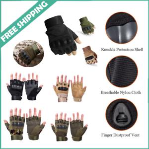 Adjustable Men/'s Tactical Gloves Army Knuckles Black Hard Knuckle Sewn in Brass