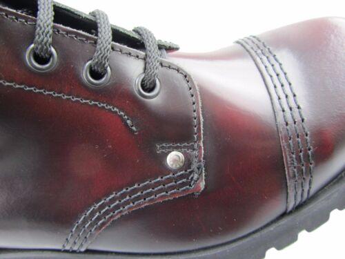Off Fashion Red Leather Under Burgundy New Boots Safety Ground Eye Rub Steel 14 RwF1q0U