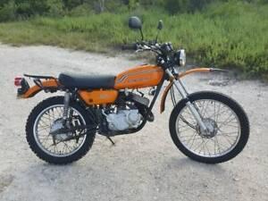 1972 kawasaki f6 125cc enduro motorcycle dual sport dirtbike 2 stroke vintage