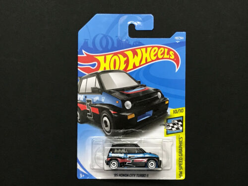 2018 Hot wheels /'85 Honda City Turbo II />Case H #190 //365 Black Carded