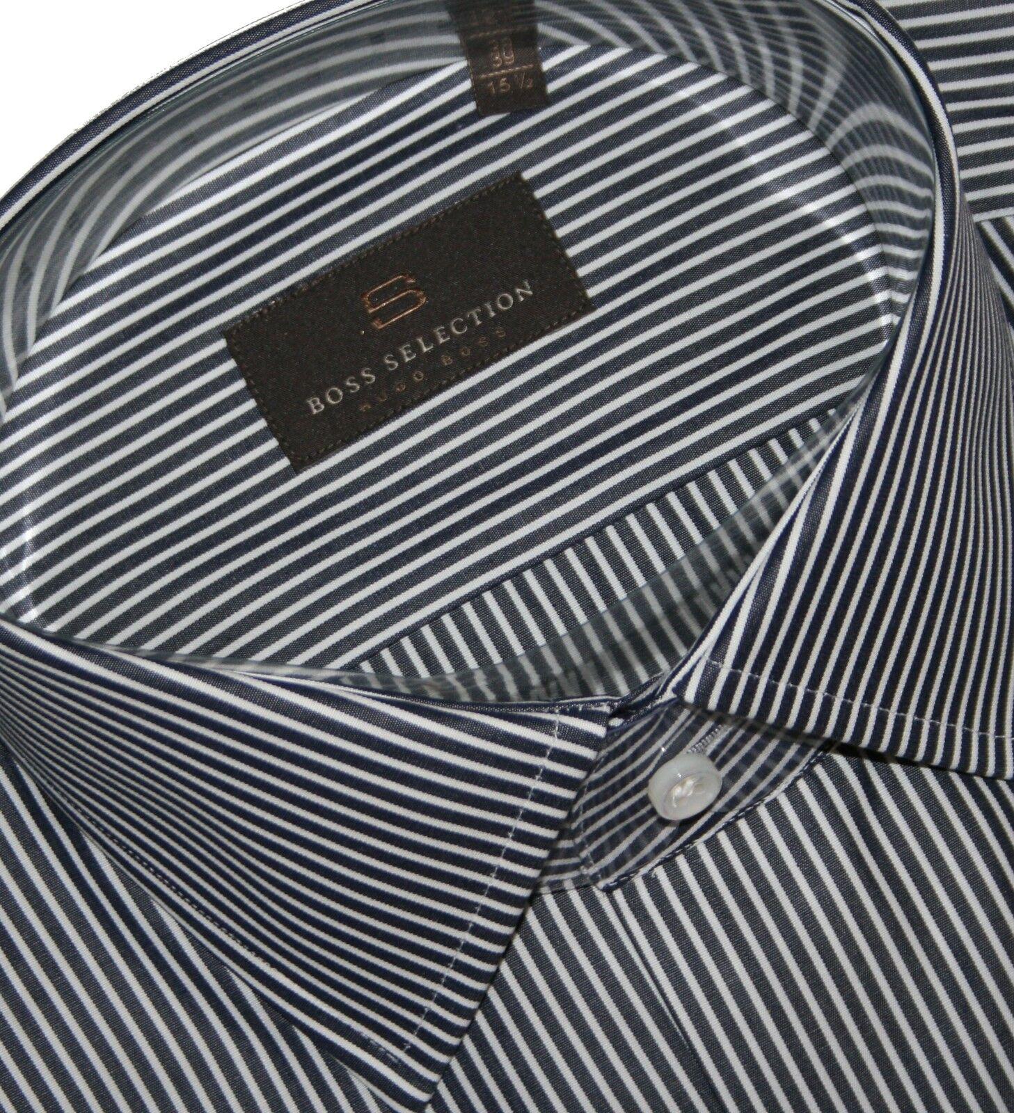 Hugo Boss Selection 50239300 Dark Blau Stripe Stripe Stripe Stirling Hemd KW.39, 40, 43 & 44 | Online-Shop  7cbd6b