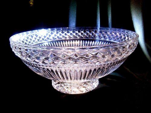 "COLOSSAL SLOVAKIAN CRYSTAL BOWL Fifth Avenue Crystal Bowl 14/"" New NIB MINT"