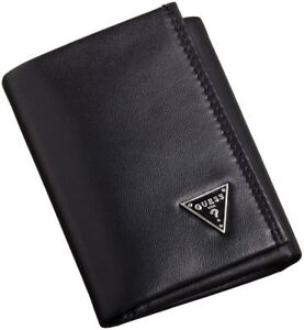 Guess-Men-039-s-Leather-Credit-Card-Id-Wallet-Passcase-Trifold-Black-31GU11X011