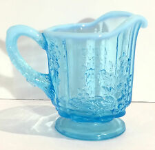 Opalescent Glass Small Pitcher/Creamer, Gape  & Vine Pattern, Stunning!