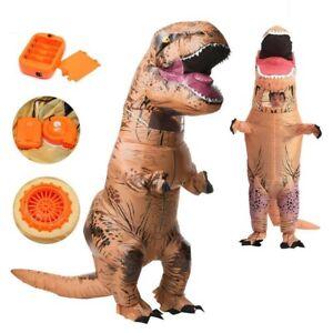 Kids-Unisex-T-REX-Dinosaur-Inflatable-Halloween-Costume-Fancy-Dress-Suit