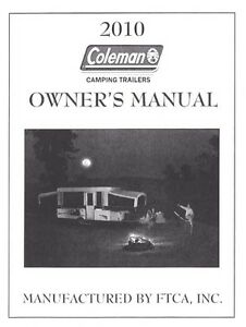 Image Is Loading Coleman Popup Trailer Owners Manual 2010 Highlander Avalon