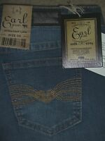 Earl Jean Straight Leg Stretch Medium Blue Denim Jeans Womens Size 6 $54