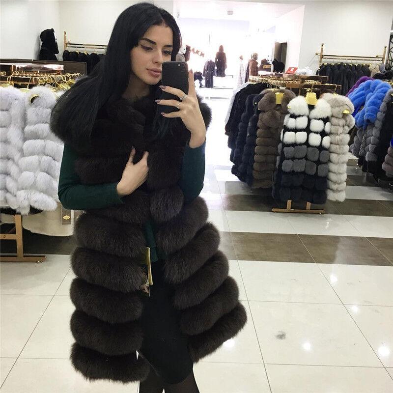 Lady Lady Lady Real Fox Pelz abnehmbare Weste Vogue Weste Weste lange Oberbekleidung | Fuxin  | Online-verkauf  | Adoptieren  | Klein und fein  | Professionelles Design  58098c