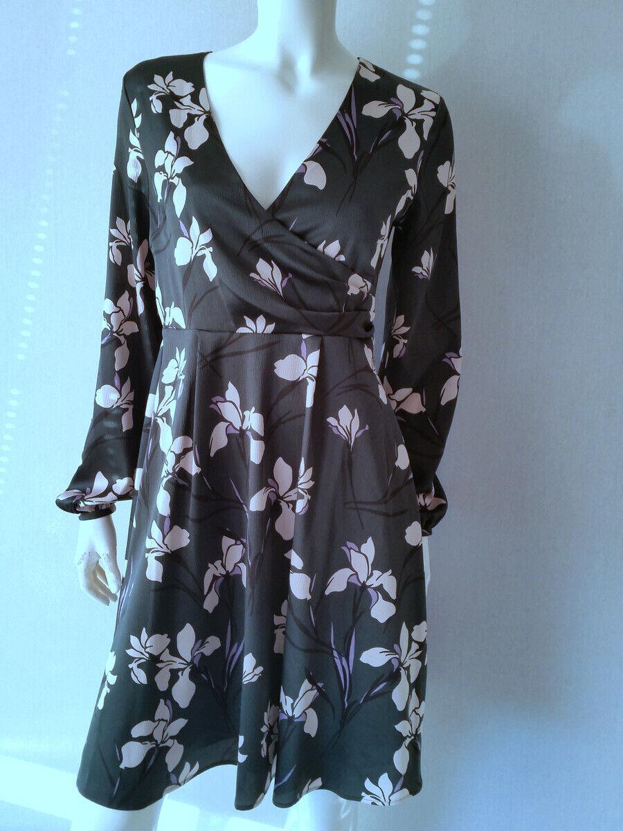 HALLHUBER Kleid Lilienprint Gr.38--UK10NEU
