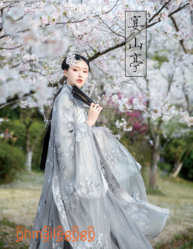 HANFU Femme Robe Intérieure Tops jupe manteau broderie chinois Cosplay Party Robe