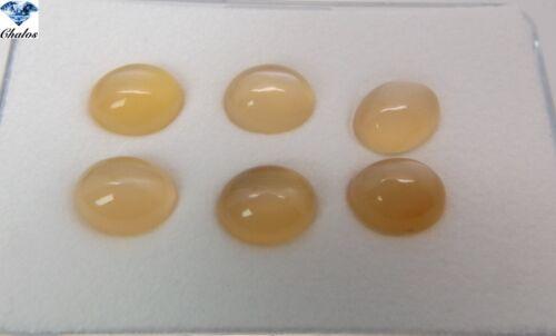 1x piedra lunar-Óvalo Orange cabochon 7x9mm 2382a