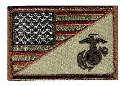 Usa Marine Corps Ega / Usa Flag 3 inch Tactical Hook Patch  (MTY2)