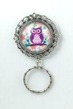 Cute Little Owl  Magnetic ID Badge Eyeglass Holder Pin Brooch (owl design #3)
