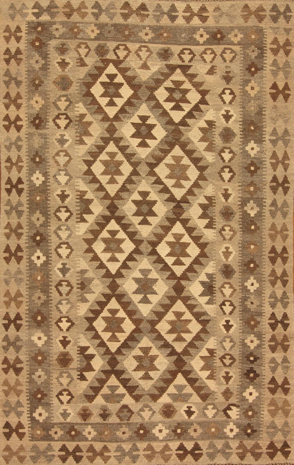 Orient alfombra handgewebter afganistán Kilim nº 315 (194 x 121) cm puente nuevo