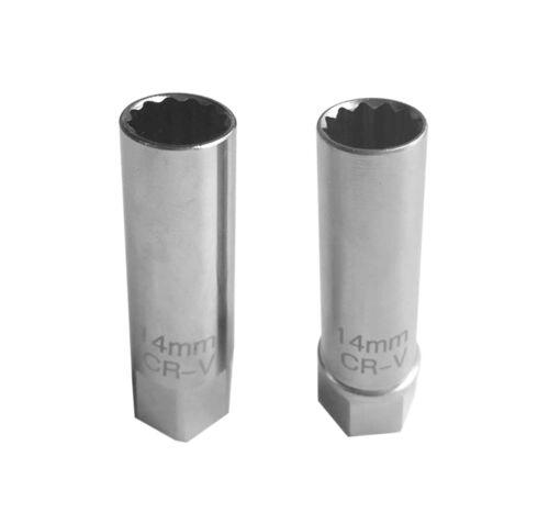 "3//8/""Drive 14mm 12 points Polish Matte Wholesale BMW Thin Wall Spark Plug Socket"