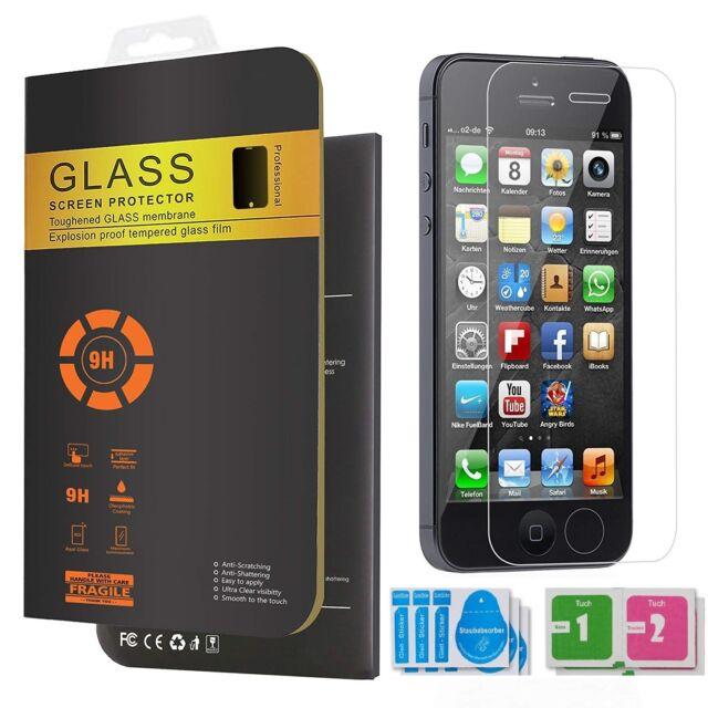2× Panzerfolie Für iPhone 5 5s SE 5C Schutzglas 9H Echt Glas Display Schutzfolie