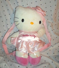 """Hello Kitty Backpack Carry Along 16""""  Plush Soft Toy Stuffed Animal"""