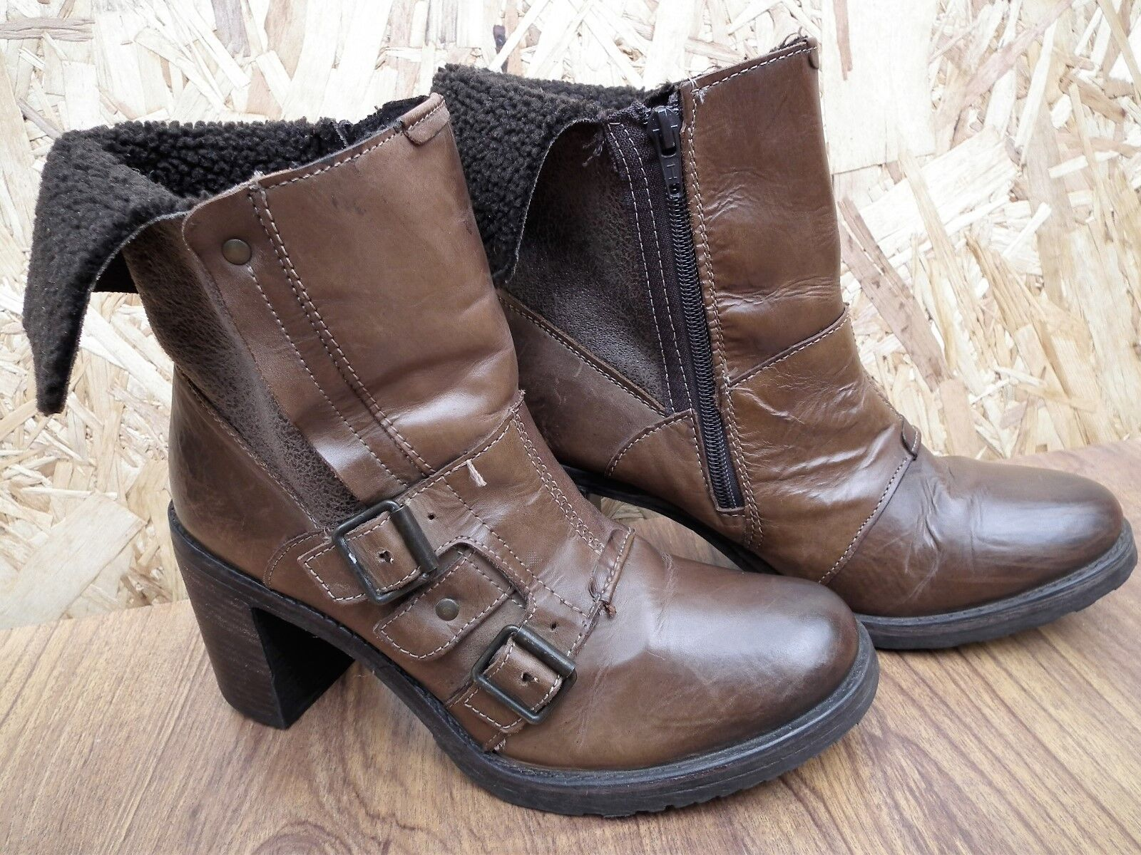 ALDO Leather Ankle Length Women's Boots UK Size 6