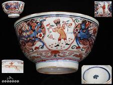 Chinese Kangxi Mark Imari Amsterdam Bont European Figures Bowl circa 1700's