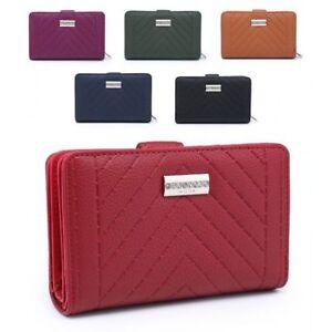 Ladies-Designer-Faux-Leather-Purse-Quilted-Girls-Wallet-Handbag-Clutch-M5009-357