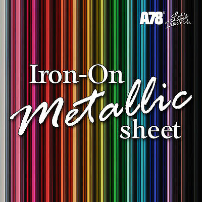 Iron On HTV Heat Transfer Vinyl Sheet SOLID Craft Cricut 20x25cm Hot Fix T-shirt