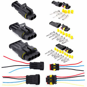 10x 2 3 4pin way super seal waterproof electrical wire connector rh ebay co uk