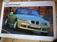 1995 BMW Z3 ROADSTER JAMES BOND 007 MOTORSPORT E 36/7 ORIGINAL POSTER PLAKAT NEU