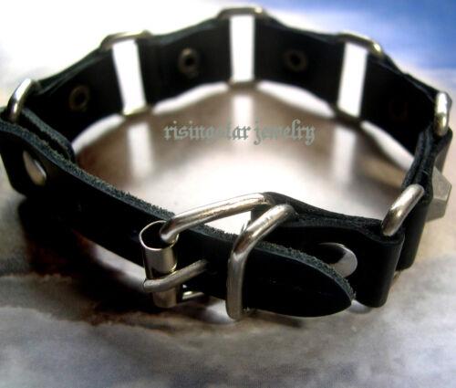 Men Cool Motorcycle Rider Surfer Leather Metal Fashion Hip Bracelet Wristband