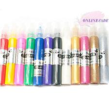 12 Mix Color Nail Art Tips Gel 3D Drawing Paint Color Pen Design Polish Acrylic