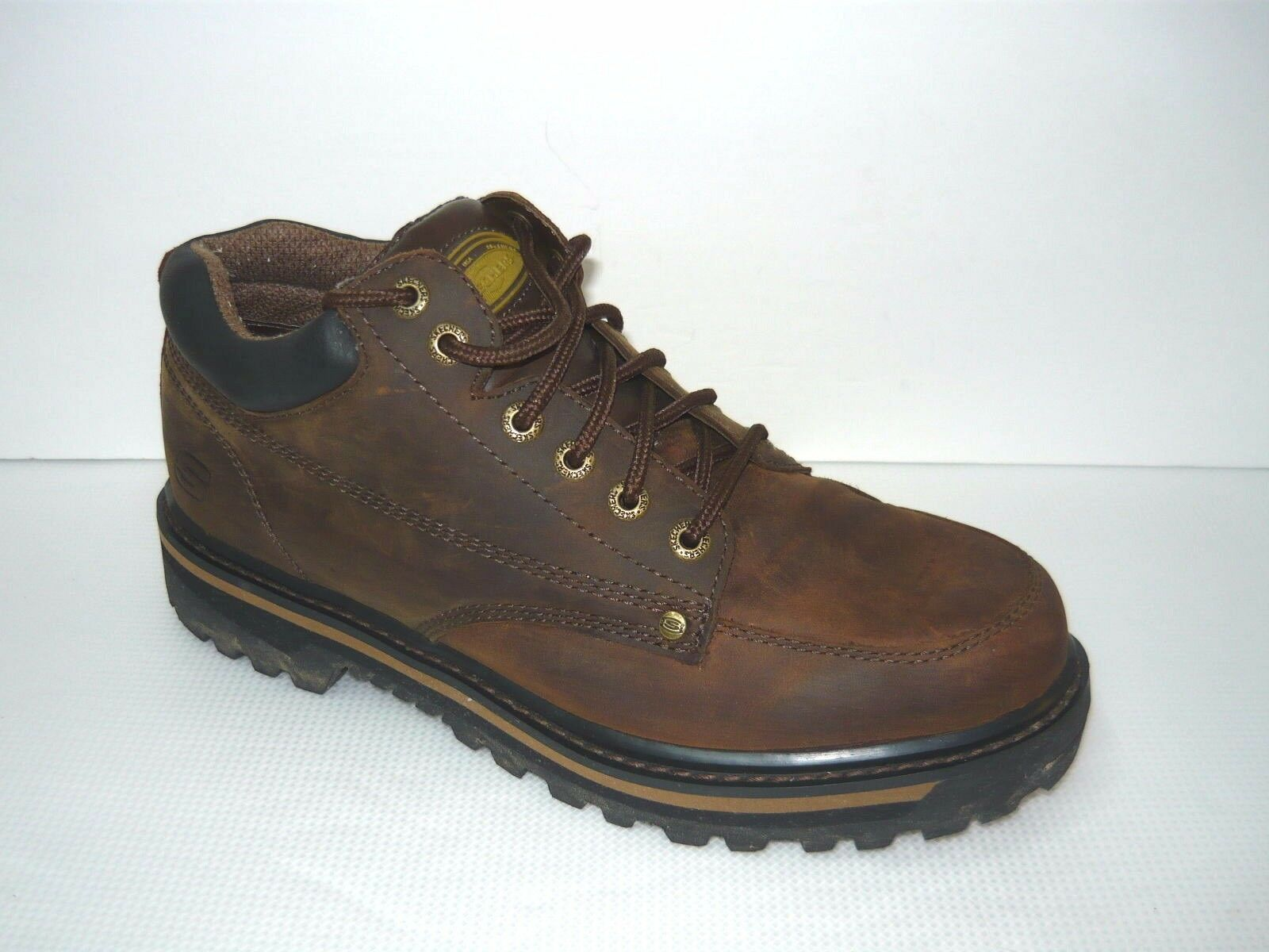 SKECHERS Distressed Brown Leather shoes Sz 12