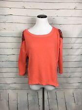 LOVE ON A HANGER Boutique Orange sweatshirt beaded shoulders festival Women's m