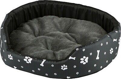 Flight Tracker Materialbett Für Hunde Katzen Hundeliege Katzenbett Tierbett Korb L Schwarz-grau