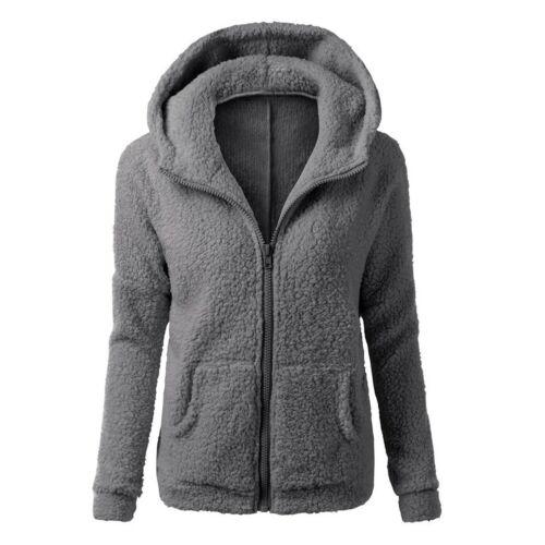 Plus Size Women Hooded Parka Jacket//Outwear Thicken Fleece Fur Warm Winter Coat