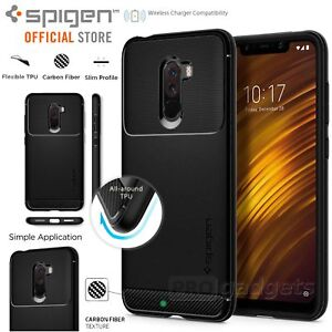 official photos e0dbc 273a7 Details about Pocophone F1 Case, Genuine SPIGEN Rugged Armor Resilient Soft  Cover for Xiaomi