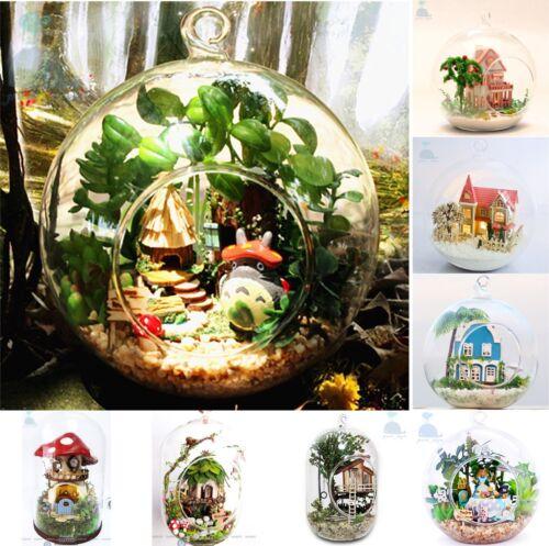 Puppenstuben & -häuser Diy Handgefertigte Miniatur-Puppen House Led-Licht Christbaumschmuck Geschenk