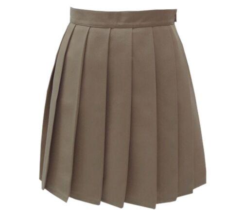 Le Japon Harajuku High School Girls Uniforms solide plissé Mini jupes femme sailo