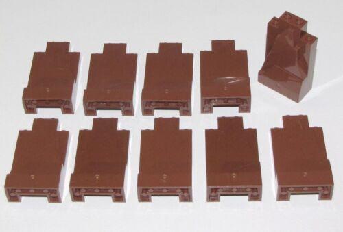 LEGO X10 REDDISH BROWN ROCK PANEL WALLS 2X4X6 NEW BULK PARTS LOT