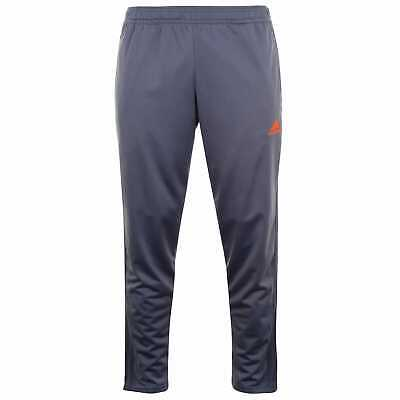 adidas Tracksuit Bottoms Mens Gents Performance Zip ClimaLite Stripe Elasticated