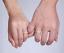 Anello-Coppia-Fede-Fedi-Fedine-Fidanzamento-Matrimonio-Acciaio-Oro-Argento-Love miniatura 7
