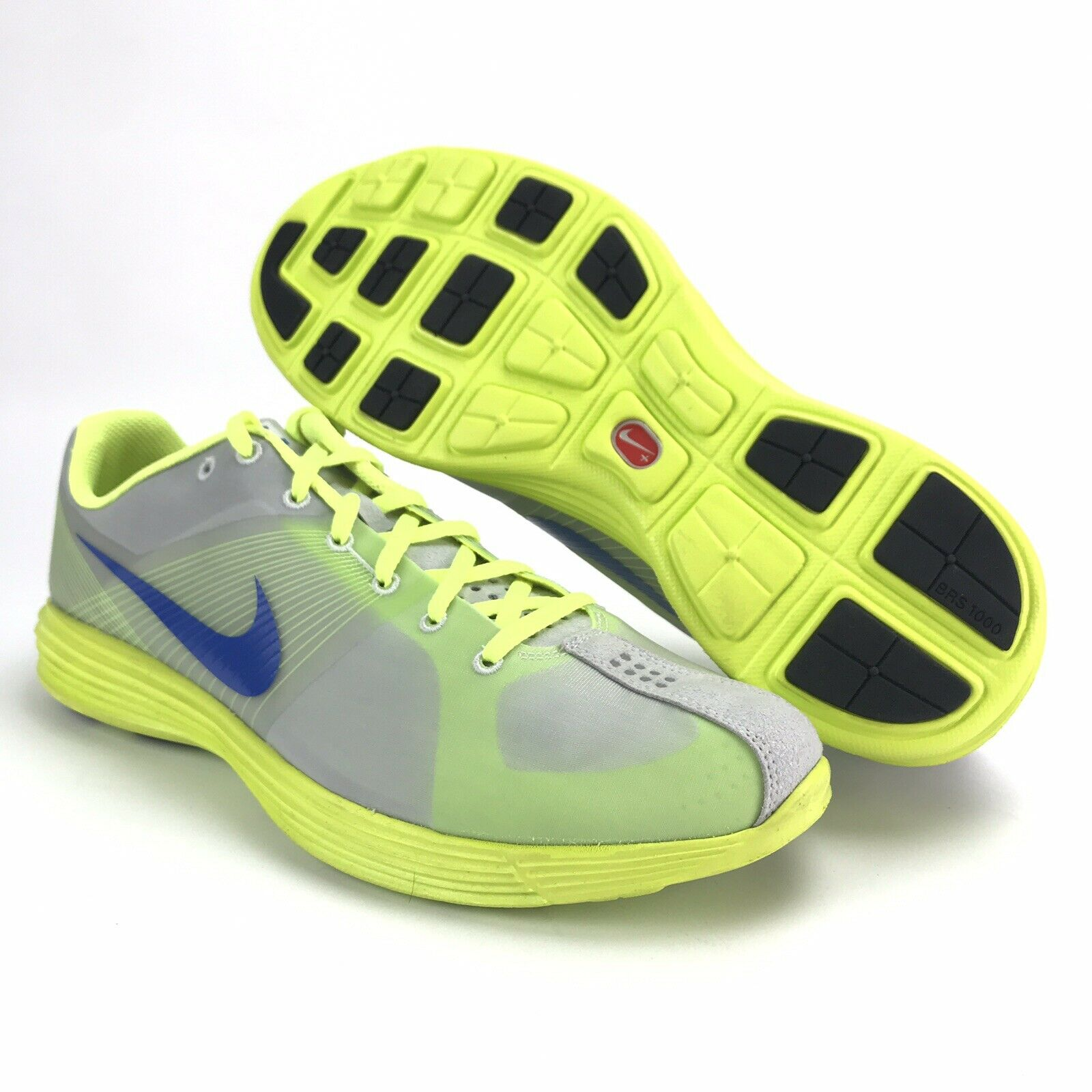 Nike Mens 2010 LunarRacer + Pure Platinum Electric verde Running zapatos Talla 12
