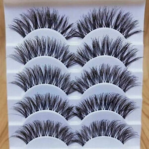Gracious-Makeup-Handmade-5Pairs-Natural-Long-False-Eyelashes-Extension-Exquisite