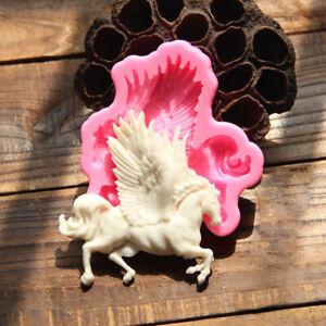 Pegasus-Pferd-Silikon-Fondant-Backform-Kuchen-Schokolade-Seife-Sugarcraft-Torte