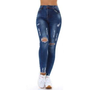Jeans High Waist Ladies Skinny Jeans Trousers Used Look