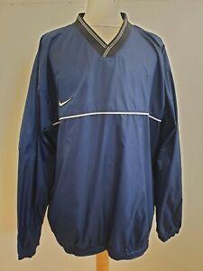 GG873-da-Uomo-Nike-Team-Blu-V-Neck-Golf-Giacca-a-Vento-Maglione-UK-XL-EU-54