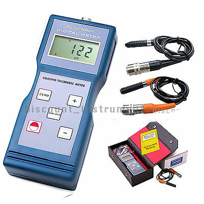 Digital Paint Coating Thickness Automotive Meter Gauge F/NF Probe CM8822 Lantek
